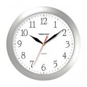 Часы Troyka 11170113, круг, серебристые, серебристая рамка, 29×29×3,5 см