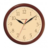 Часы Troyka 21234287, круг, бежевые, коричневая рамка, 24,5×24,5×3,1 см