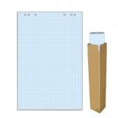 Блок бумаги для флипчартов клетка Attache Selection 68х98 см голубая 20 листов (80 г/кв.м)