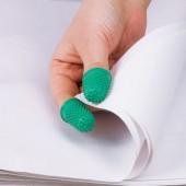 Напальчник для бумаги, диаметр 17мм, высота 28, ALCO (Германия) 765, зеленый, резиновый, 811524