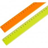 Линейка 30 см пластиковая эконом, цвета в ассортименте, Attache  2 шт/уп