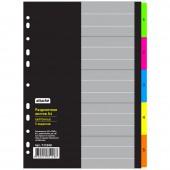 Разделитель листов с индексами Attache, А4,цифровой 1-5 , картон