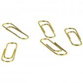 Скрепки 28 мм, Berlingo, без покрытия, золотистые, 100шт/уп., картонная упаковка, ст. 10