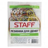 Резинка для денег 100 гр, Staff, цветные, натуральный каучук