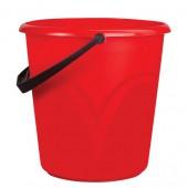 Ведро 8 л, без крышки, пластиковое, пищевое, с глянцевым узором, цвет красный, мерная шкала, ЦВП-8