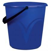 Ведро 12 л, без крышки, пластиковое, пищевое, с глянцевым узором, цвет синий, мерная шкала, ЦВП-12