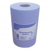 Протирочная бумага в рулонах Luscan Prof 2-слойная голубая (130 м/рул)