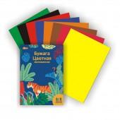 Бумага цветная А4 №1 School Живая природа 16 листов 8 цветов мелованная