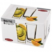 """Набор стаканов Pasabahce, 6 шт., объем 330 мл, высокие, стекло, """"Baltic"""""""